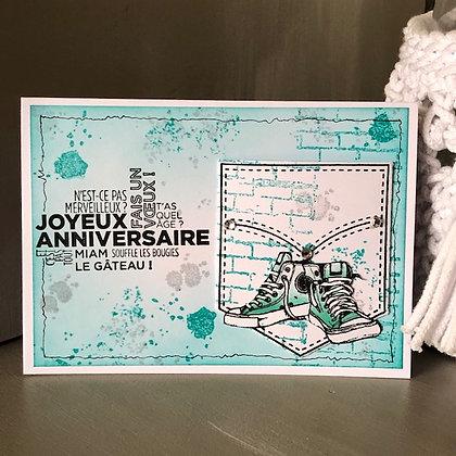 Carte ''Joyeux anniversaire'' avec pochette