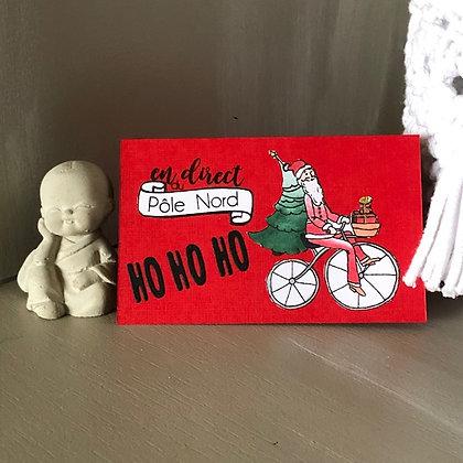 Pochette pour bon cadeau ''En direct du pôle nord''