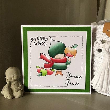 Carte ''Joyeux Noël et Bonne Année''