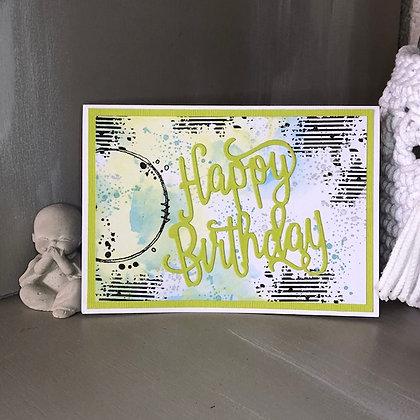 Carte ''Happy Birthday''