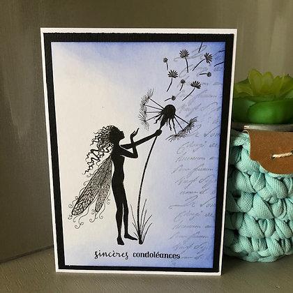 Carte ''Sincères condoléances'' fées