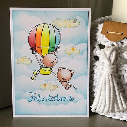 Carte ''Félicitations''
