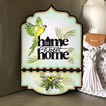 Décoration de porte ''Home sweet home''