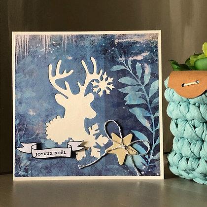 Carte''Joyeux Noël'' avec silhouette renne
