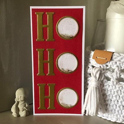 Carte ''Ho Ho Ho'' à secouer