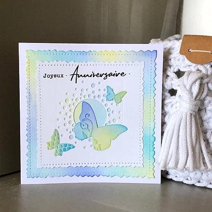 Carte ''Joyeux anniversaire'' avec papillons