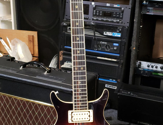 1980's Washburn Sunburst Solid Body Electric Guitar