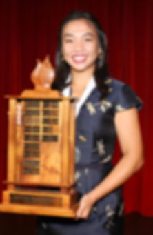 DYW Hawaii 2020 Josette Huang with Troph