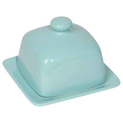 Square Butter Dish- Robins Egg