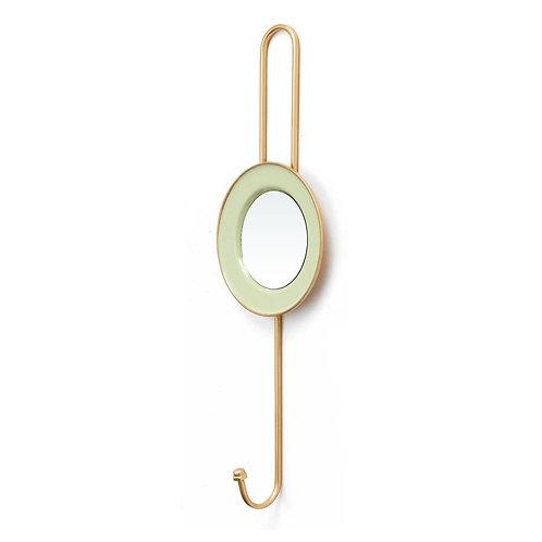 Deco Enamel Wall Mirror Hooks