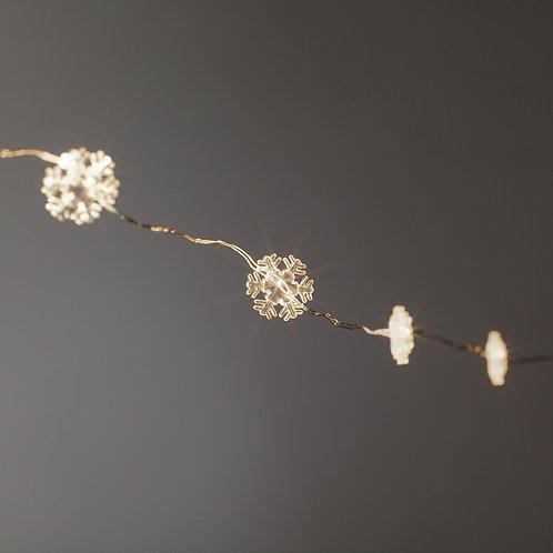 Mini Snowflake LED Light String