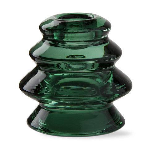 Glass Tree Taper Candle Holder