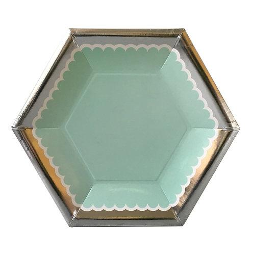 Mint Salad Plate (set of 8)