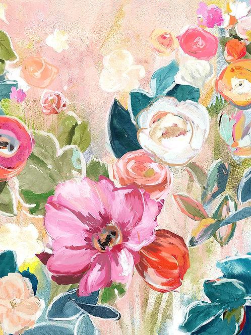 """Bloom"" Floral Canvas Art"