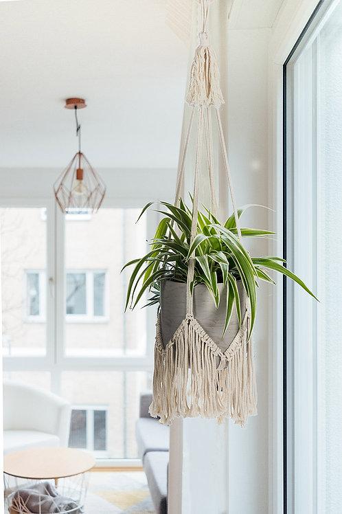 Macrame Plant Hanger w/Fringe