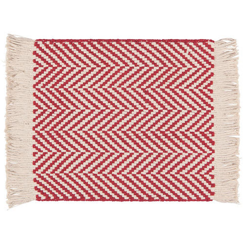 Woven Placemat Red