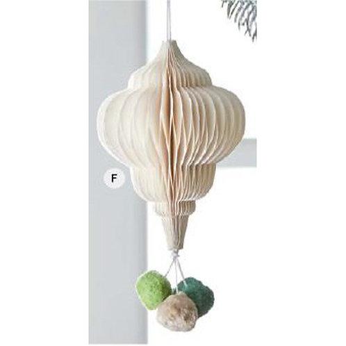 Pom Pom Honeycomb Ornament