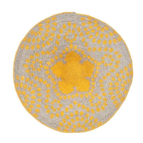 Layla Wall Basket Blue/Yellow