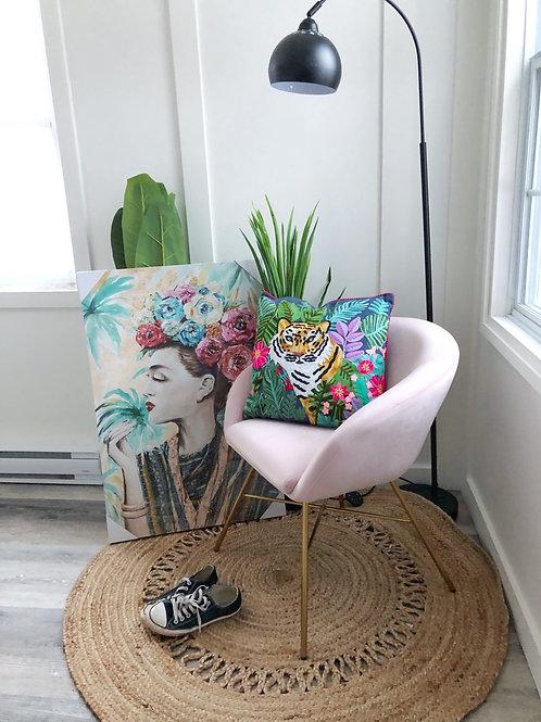 """Frida"" Floral Canvas Art"