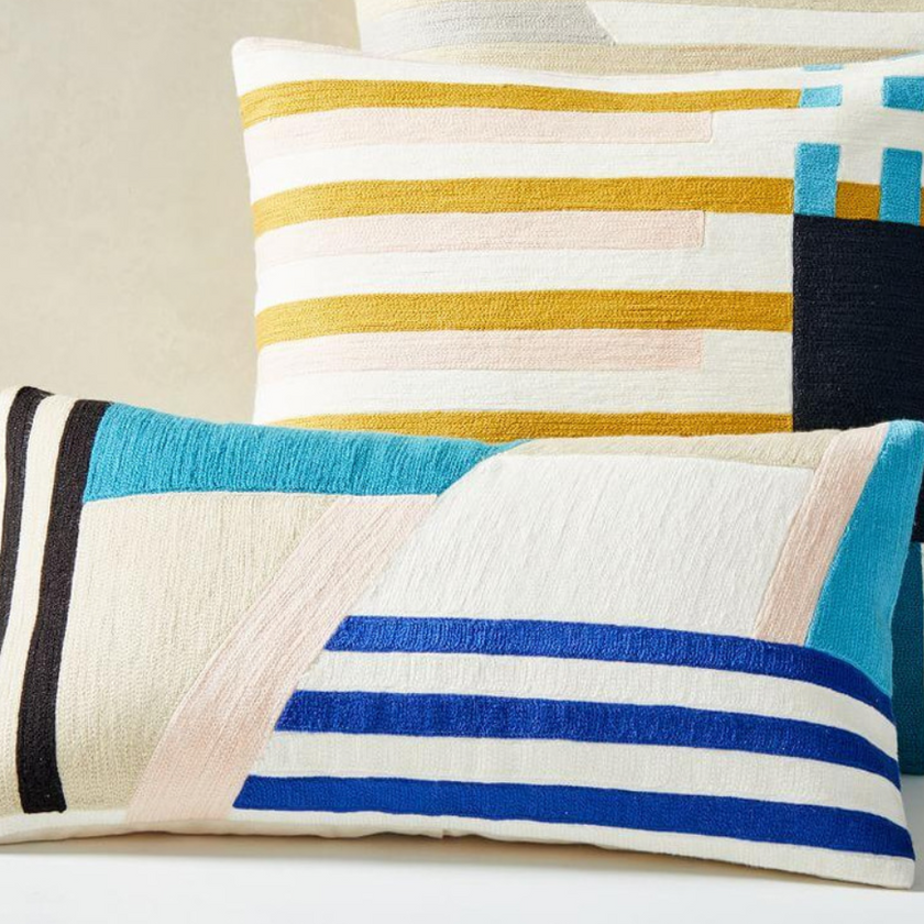 Wallace Sewell Crewel Pillow