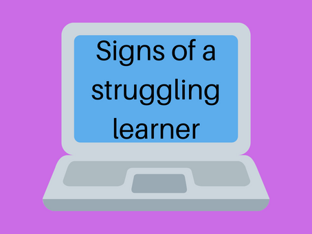 Signs of a Struggling Learner