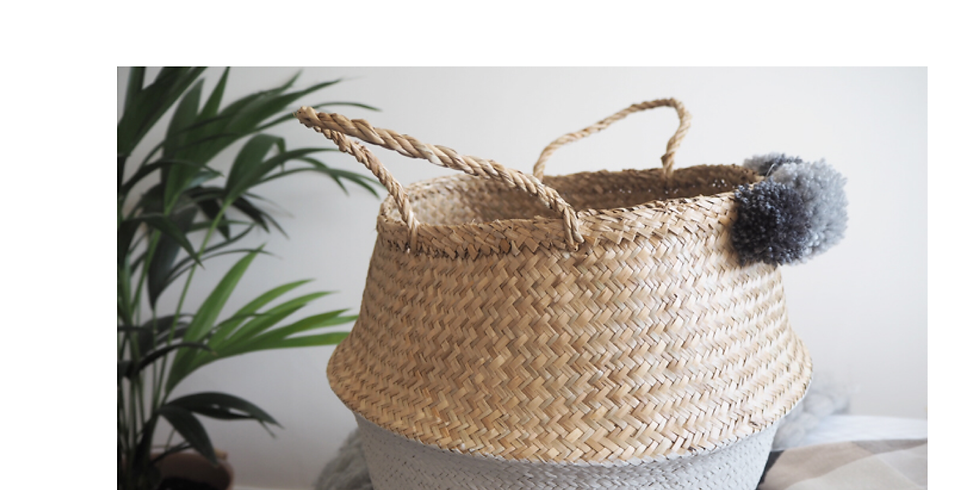 DIY Painted Seagrass Basket