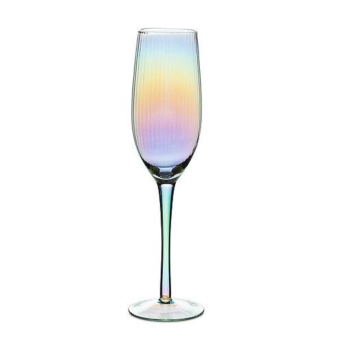 Iridescent Glass Champagne Flute