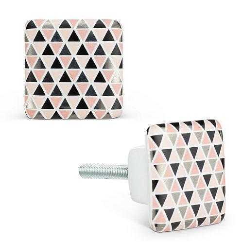 Square Ceramic Furniture Knob