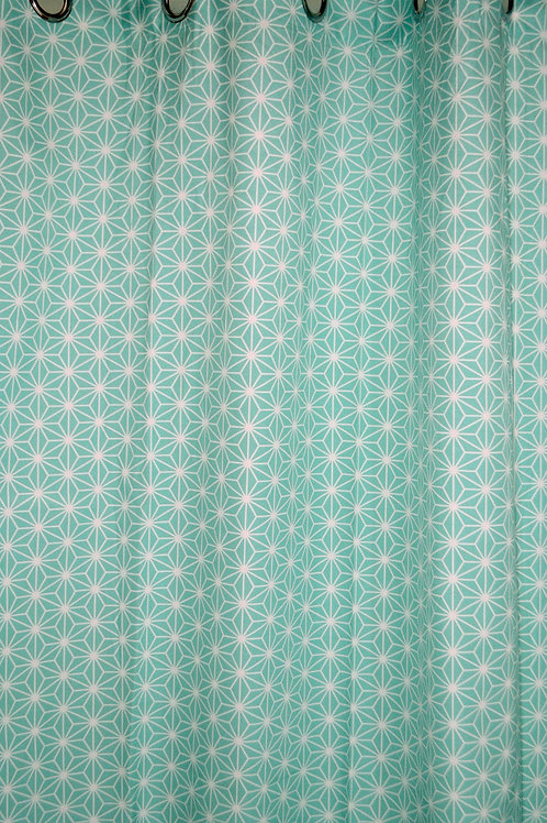 Aqua Star Curtain Panel