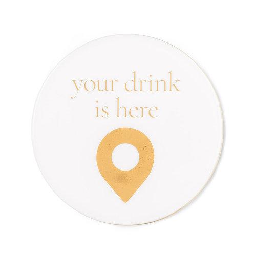 Cheeky Coaster-Drink Here