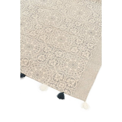Navy and Ivory Tassel Rug (local delivery only)