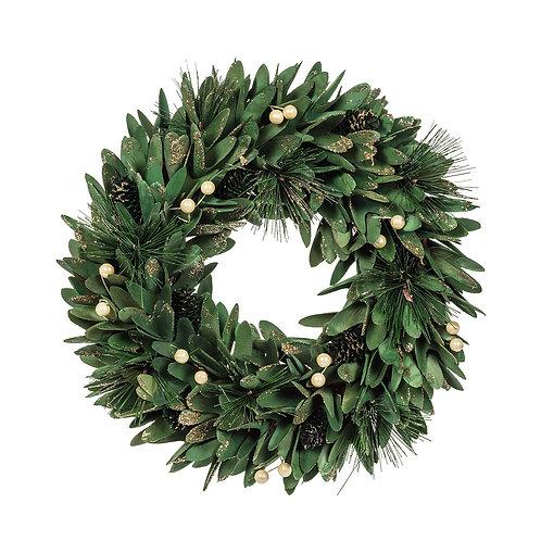 Pinecone & Pearl Wreath