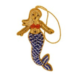 Beaded Mermaid Ornament