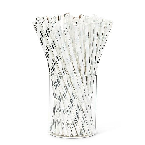 Metallic Straws - Silver