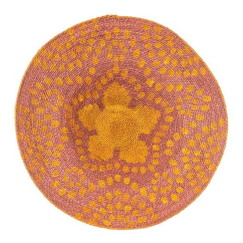 Layla Wall Basket Pink/Yellow