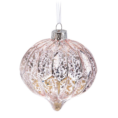 Rosé Mercury Glass Ornament