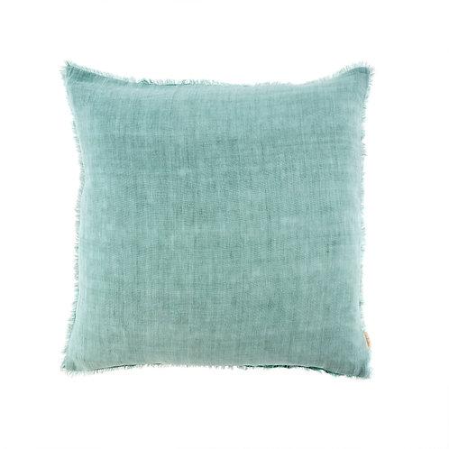 24x24 Lina Linen Pillow Azure