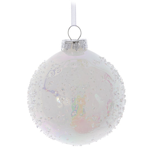 Icicle Dotted Ball Ornament