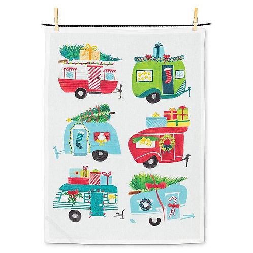 Merry Campers Tea Towel