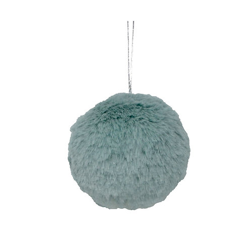 Mint Green Faux Fur Ornament