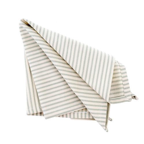 Gray Ticking Stripe Napkin Set of 4