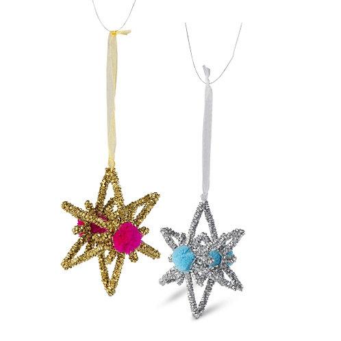 Pom Pom Star Ornament