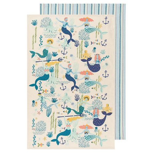 Mermaids Tea Towel