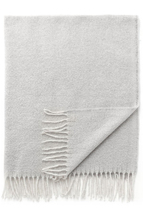 Brushed Knit Throw in Fog