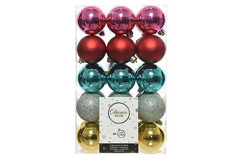 Merry & Bright Shatterproof Ornament Set