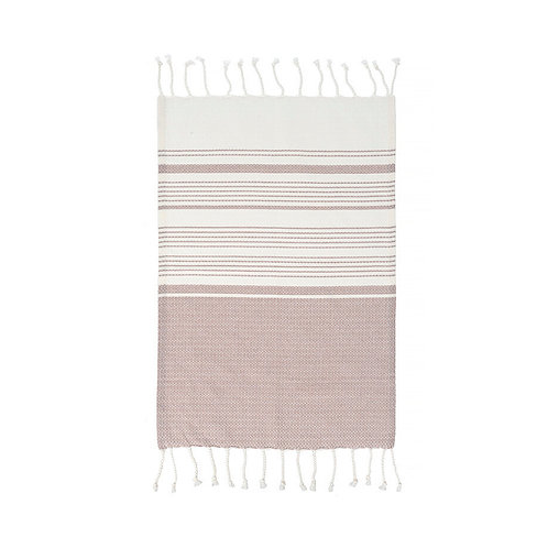 Set of 4 Turkish Hand Towels in Purple