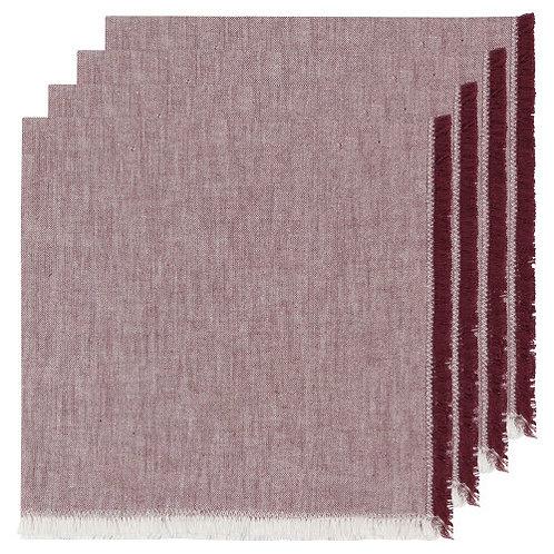 Cotton Fringe Napkins Set of 4