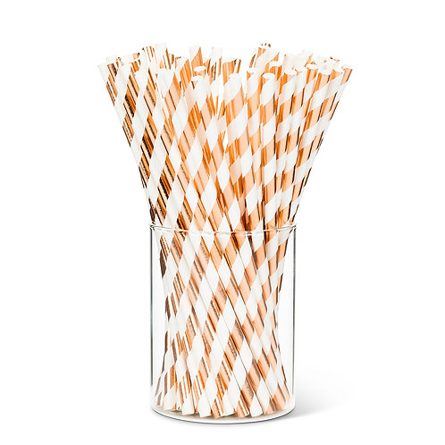 Metallic Straws - Rose Gold