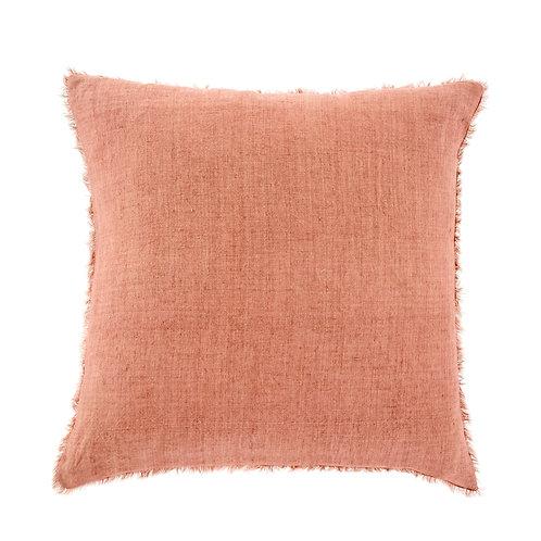 24x24 Lina Linen Pillow Redwood