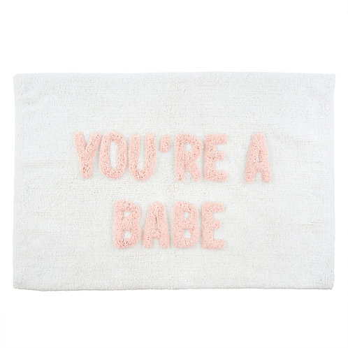 You're a Babe bathmat